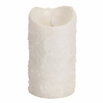 """4"""" x 7"""" Simplux LED White Textured Candles with Moving Flame"""