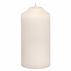 """4"""" x 8"""" Simplux LED White Pillar Candles with Moving Flame, Set of 2"""
