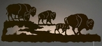 "42"" Buffalo Herd LED Back Lit Lighted Metal Wall Art"