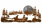"42"" Canoe Scenic Metal Wall Art"