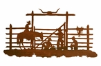 "42"" Cowboys in the Corral Metal Wall Art"
