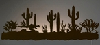 "42"" Desert Scene LED Back Lit Lighted Metal Wall Art"