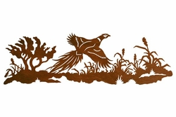 42 flying pheasant scenic metal wall art birds wall decor. Black Bedroom Furniture Sets. Home Design Ideas