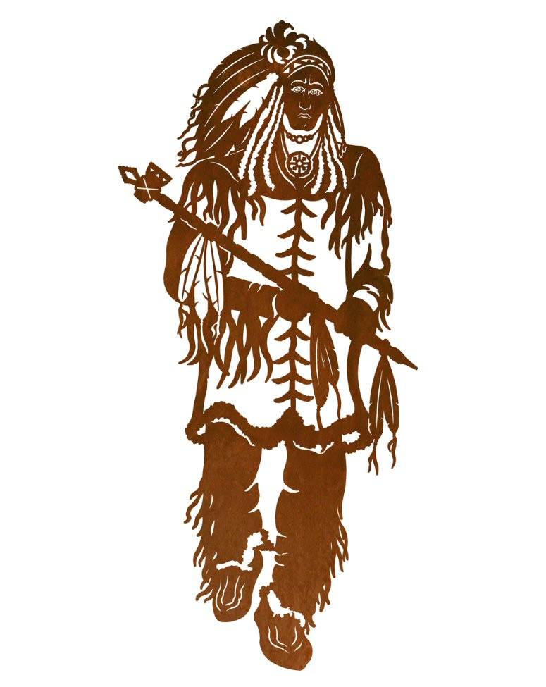 42 Indian Chief Metal Wall Art Southwest Wall Decor