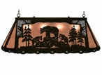 """46"""" Bear Family Scenic Hanging Oval Metal Pool Table Galley Light"""
