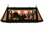 "46"" Desert Scene w/ Cactus Hanging Oval Metal Pool Table Galley Light"
