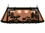 """46"""" Elk Family Scenic Hanging Oval Metal Pool Table Galley Light"""