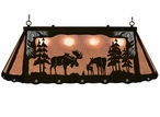 """46"""" Moose Family Scenic Hanging Oval Metal Pool Table Galley Light"""