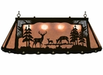 """46"""" Whitetail Deer Family Scenic Hanging Oval Metal Pool Table Light"""