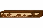 "48"" Buffalo Family Scenic Metal Window Valance"