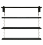 """48"""" Chain Hung Wall Unit with Three Metal Shelves"""