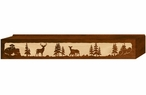 "48"" Deer Family Scenic Metal Window Valance"