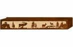 "48"" Elk Family Scenic Metal Window Valance"