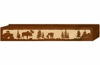 "48"" Moose Family Scenic Metal Window Valance"