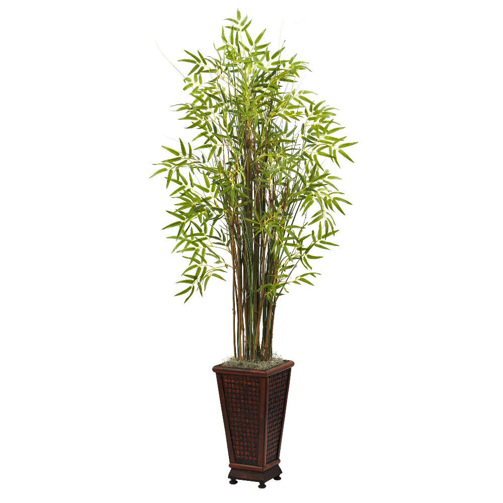 5 5 39 grass bamboo silk plant with decorative planter for Decorative tall grass plants