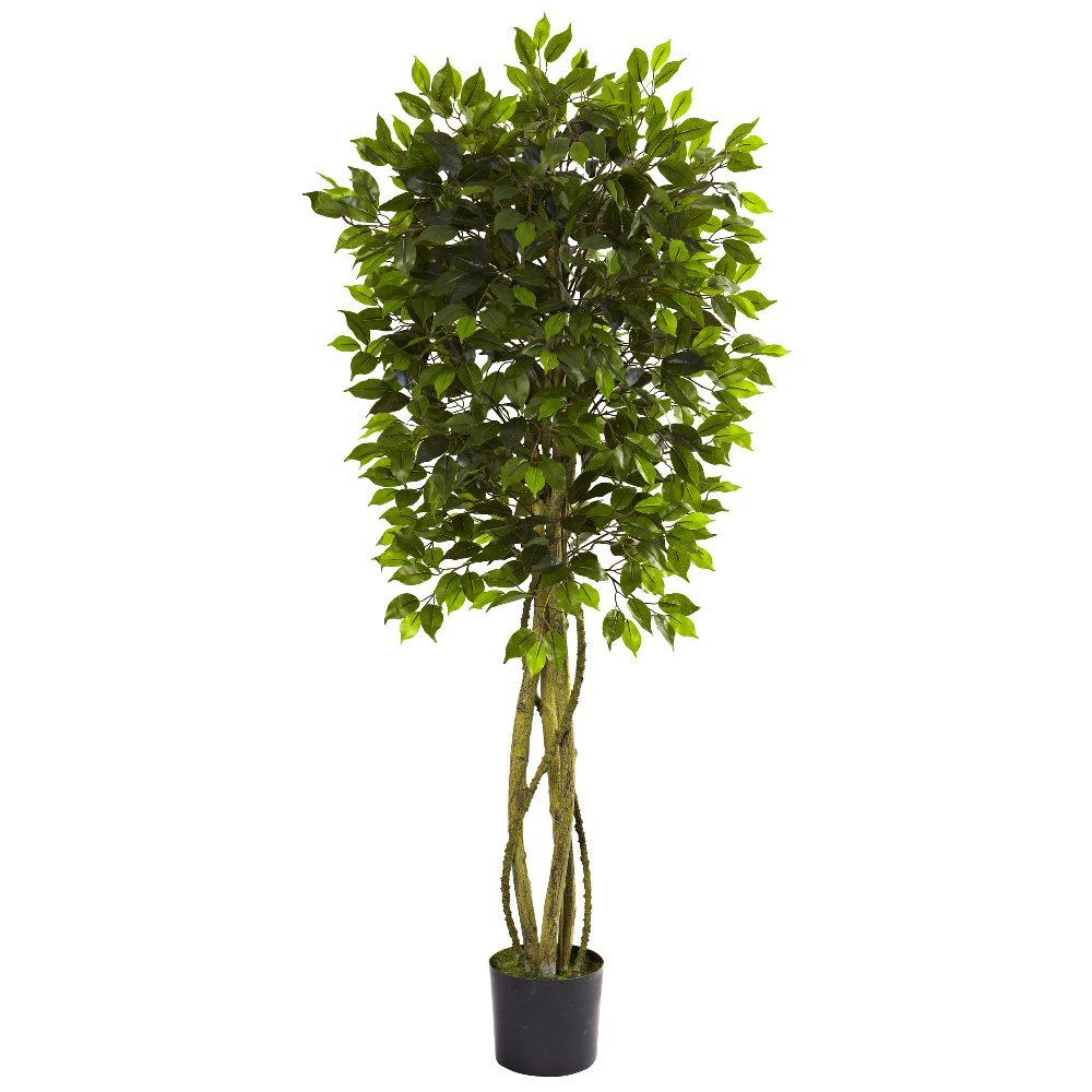 5 5 39 Silk Ficus Tree Uv Resistant Indoor Outdoor