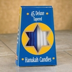 """5"""" Blue and White Hanukkah Taper Candles, Set of 270"""