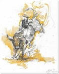 5 Minutes til Midnight Bull Rider Wrapped Canvas Giclee Print