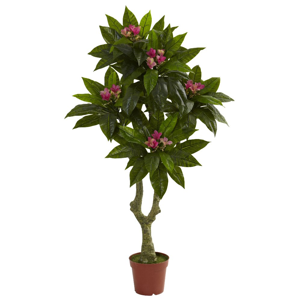 5 39 Silk Plumeria Tree Uv Resistant Indoor Outdoor Artificial Trees Silk Trees