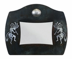 "5"" x 7"" Burnished Kokopelli Metal Picture Frame"