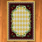 5' x 8' High Country Rooster Yellow Rectangle Rug