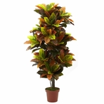 """56"""" Real Touch Croton Silk Plant"""
