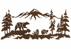 "57"" Bear Family in the Forest Metal Wall Art"