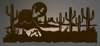 "57"" Desert Scene LED Back Lit Lighted Metal Wall Art"