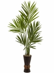 6' Kentia Silk Tree with Bamboo Planter