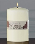 "6"" Old World Altar Unscented Pillar Candles, Set of 6"