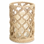 "7.5"" Rope Look Pillar Candle Holder, Set of 3"