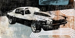 70's Muscle Car Wrapped Canvas Giclee Print Wall Art