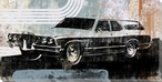 70's Station Wagon Wrapped Canvas Giclee Print Wall Art