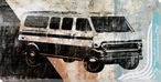 70's Van Wrapped Canvas Giclee Print Wall Art