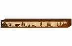 "72"" Bear Family Scenic Metal Window Valance"