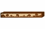"72"" Buffalo Family Scenic Metal Window Valance"