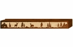 "72"" Deer Family Scenic Metal Window Valance"