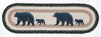 """8.25"""" x 27"""" Mama and Baby Bear Jute Oval Stair Tread Rugs, Set of 2"""