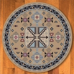 8' Copper Canyon San Angelo Southwest Round Rug