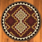 8' Council Fire Red Southwest Round Rug