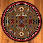 8' Four Rams Bright Southwest Round Rug