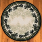 8' Noble Pines Natural Nature Round Rug