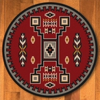 8' Old Crow Red Southwest Round Rug