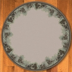 8' Pins and Needles Natural Pine Cones Nature Round Rug