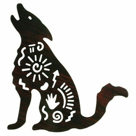 "8"" Story Coyote Metal Wall Art"