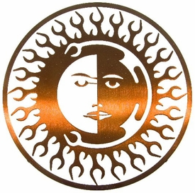 "8"" Sun Moon Fire Metal Wall Art by Joel Sullivan"