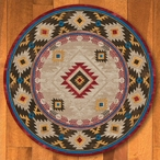 8' Whisky River Natural Southwest Round Rug