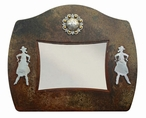 "8"" x 10"" Burnished Cowgirl Metal Picture Frame"