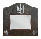 "8"" x 10"" Burnished Pine Trees Metal Picture Frame"