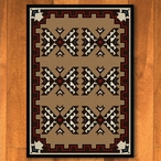 8' x 11' Cami Blanket Brown Southwest Rectangle Rug